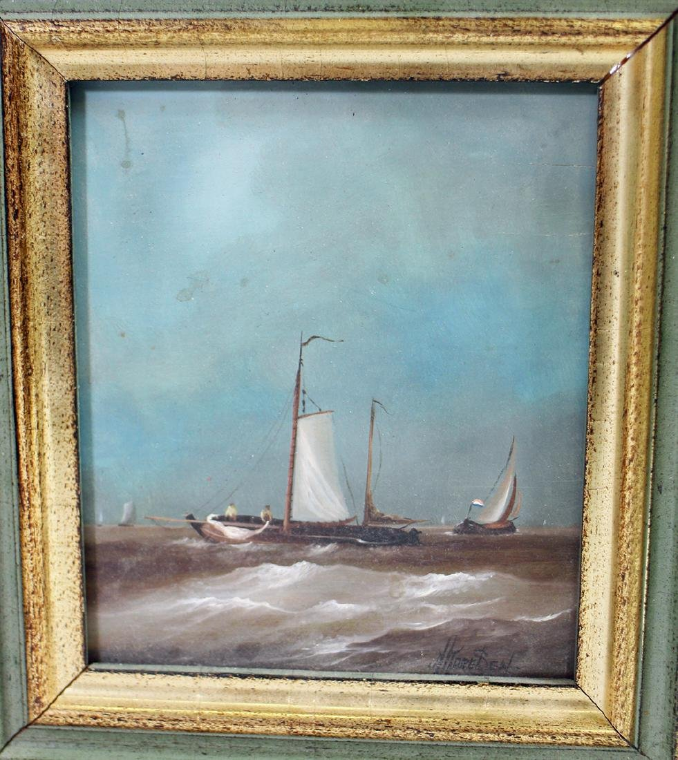 (3) DUTCH SHIP PAINTINGS - 3