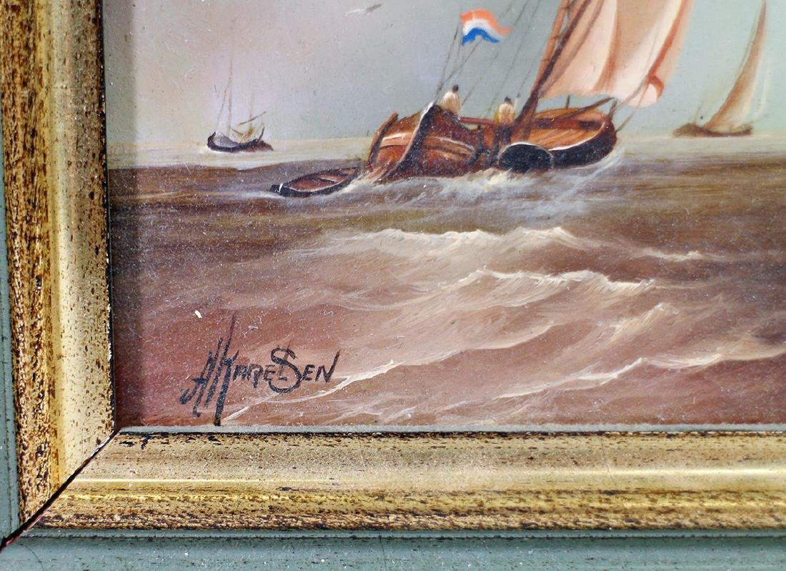 (3) DUTCH SHIP PAINTINGS - 4