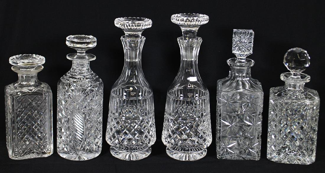 (6) CRYSTAL DECANTERS