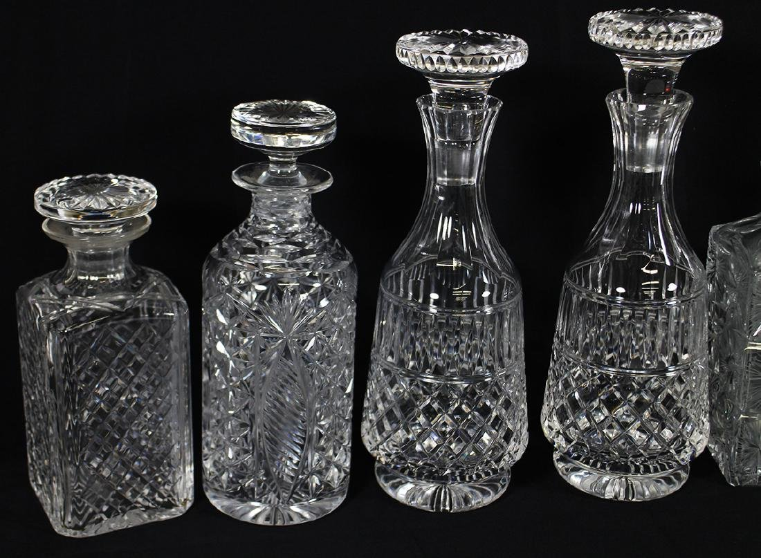 (6) CRYSTAL DECANTERS - 2
