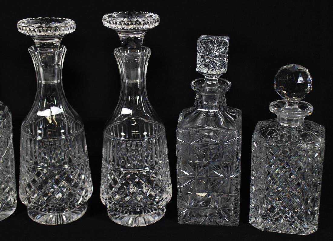 (6) CRYSTAL DECANTERS - 3