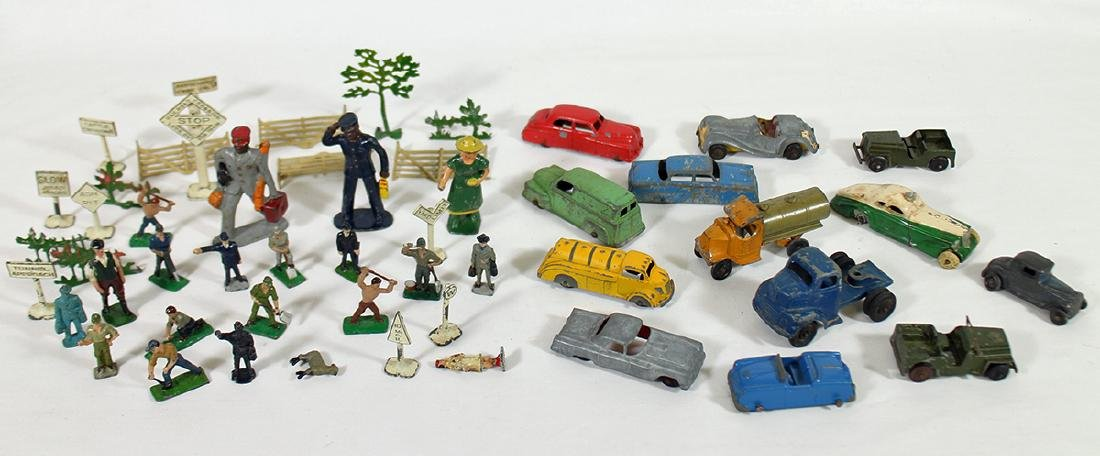 VINTAGE CARS & RAILROAD FIGURINES