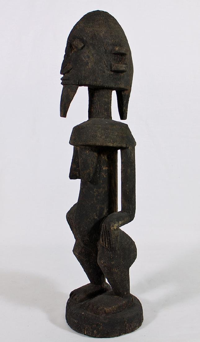 CARVED WOOD AFRICAN FERTILITY STATUE