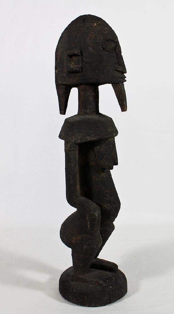 CARVED WOOD AFRICAN FERTILITY STATUE - 2