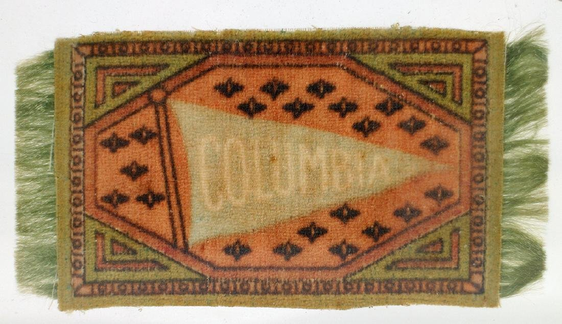 ANTIQUE COLUMBIA UNIVERSITY CIGAR TOBACCO BLANKET