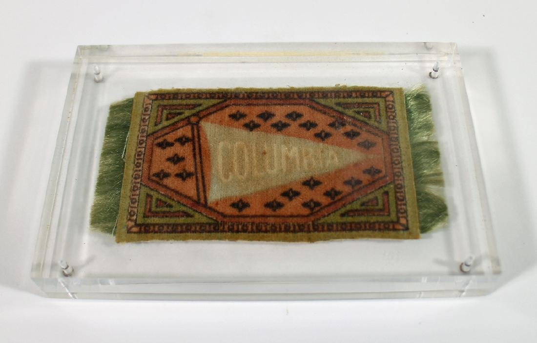 ANTIQUE COLUMBIA UNIVERSITY CIGAR TOBACCO BLANKET - 4