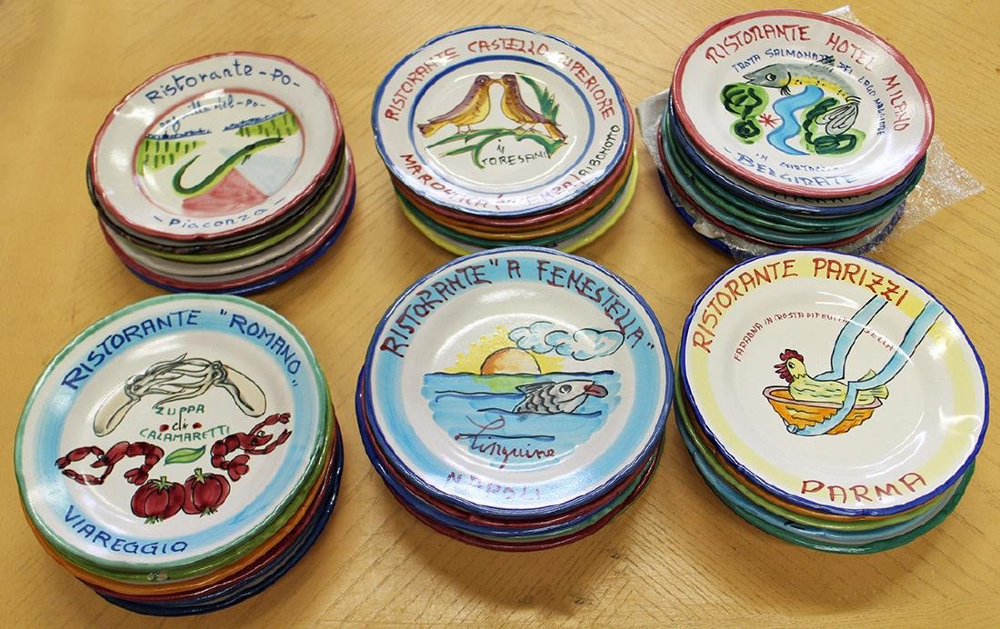 50 HAND PAINTED ITALY RESTAURANT DINNER PLATES - 3