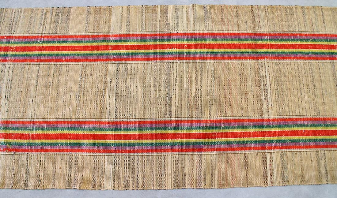 EARLY 20TH CENTURY RAG RUNNER RUG - 2