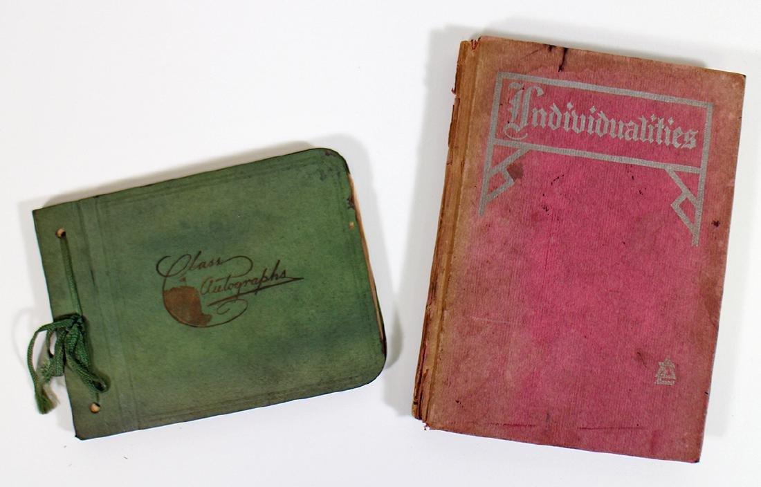 AUTOGRAPH BOOK 1930's & DELTA SIGMA SORORITY 1912