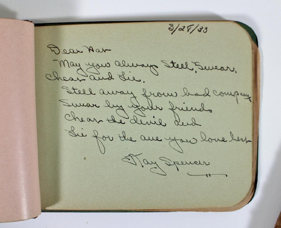 AUTOGRAPH BOOK 1930's & DELTA SIGMA SORORITY 1912 - 3