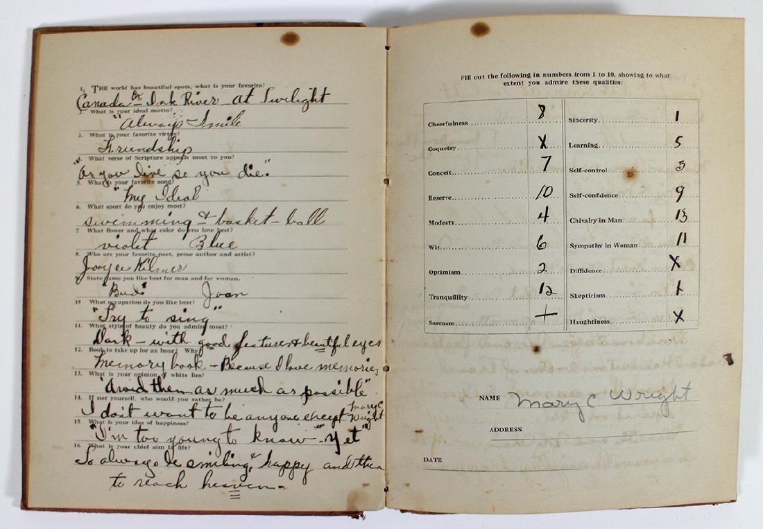AUTOGRAPH BOOK 1930's & DELTA SIGMA SORORITY 1912 - 4