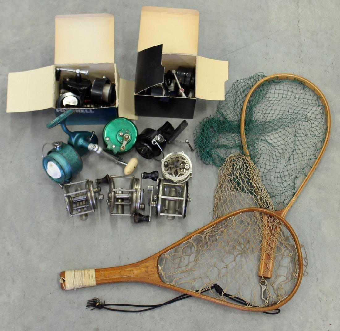 VINTAGE FISHING REELS & NETS