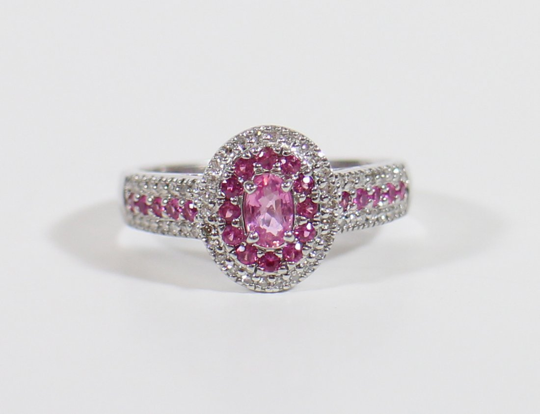 14K PINK SAPPHIRE & DIAMOND RING