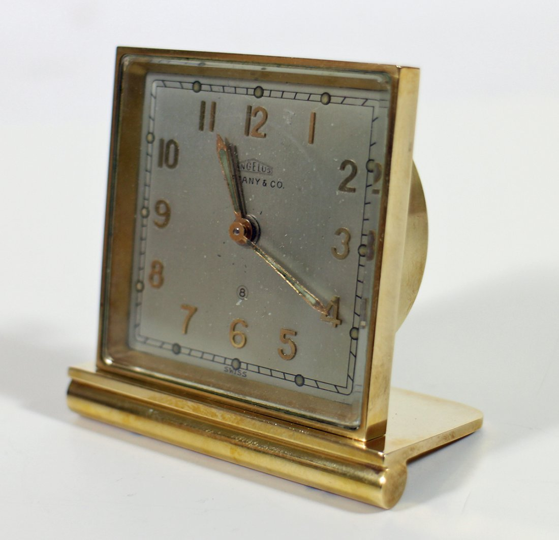 TIFFANY & CO ANGELUS 15 JEWEL TRAVEL ALARM CLOCK - 2