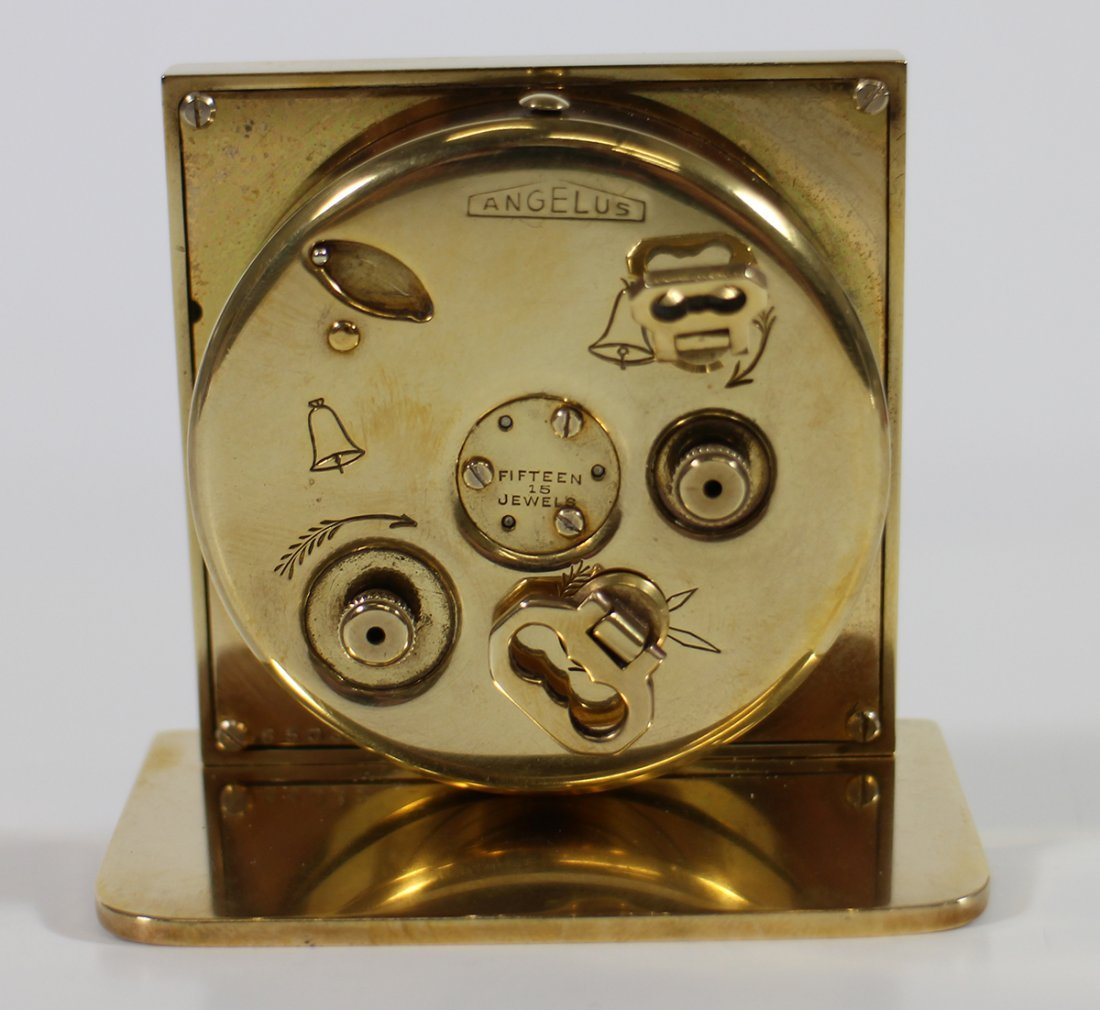 TIFFANY & CO ANGELUS 15 JEWEL TRAVEL ALARM CLOCK - 3