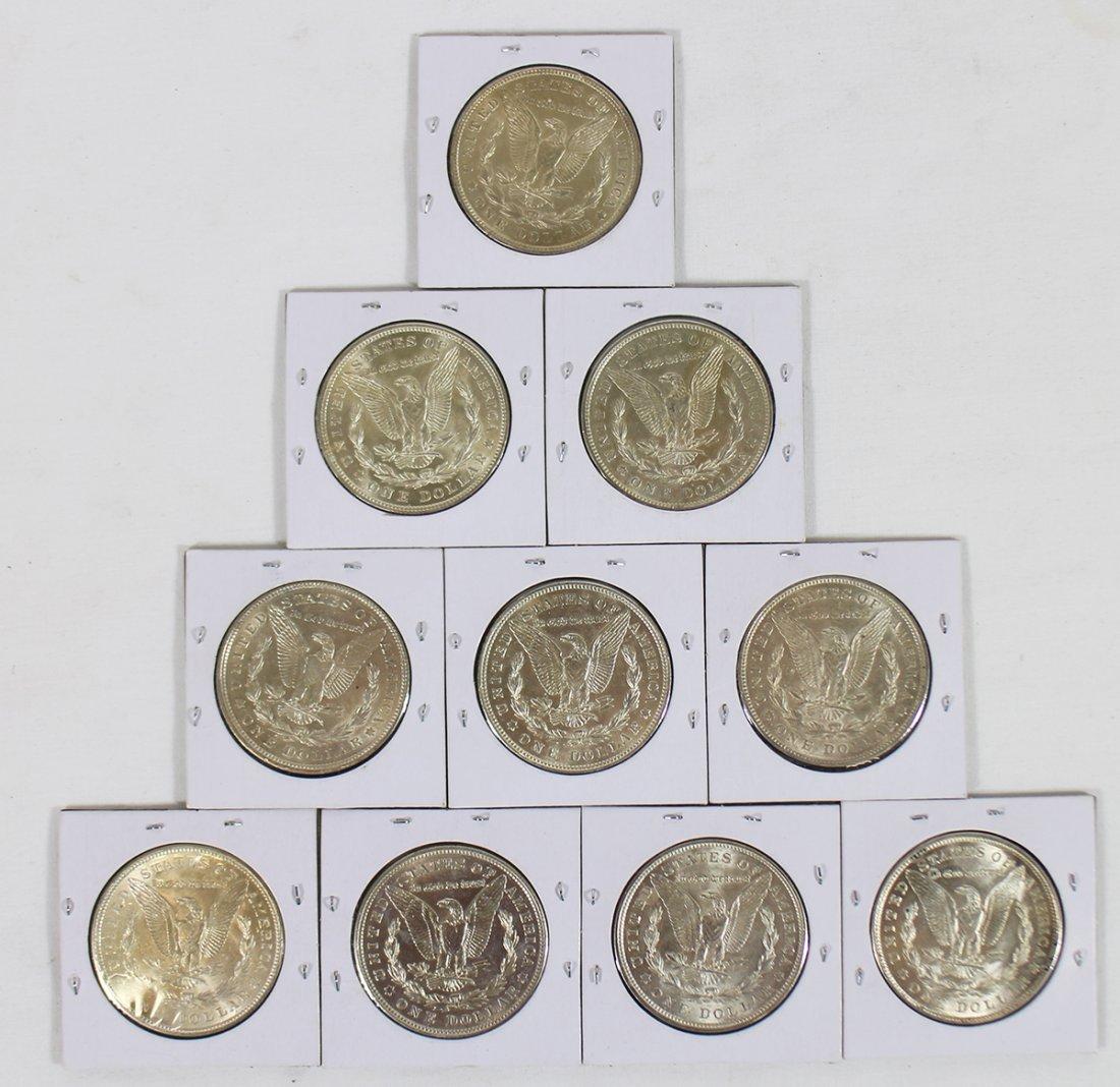 (10) SILVER MORGAN DOLLARS - 3