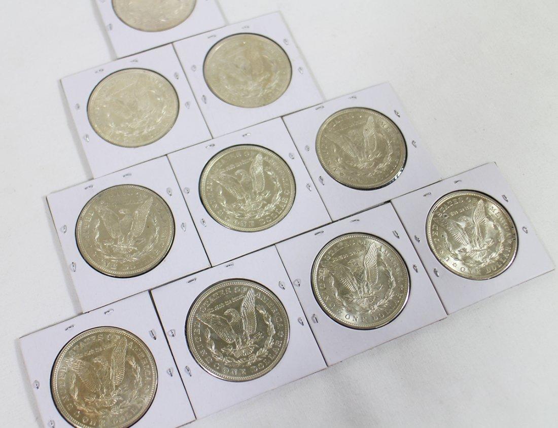 (10) SILVER MORGAN DOLLARS - 4