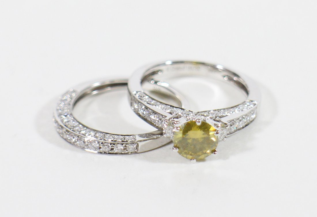 MICHAEL CRISTOFF 18K YELLOW DIAMOND WEDDING SET