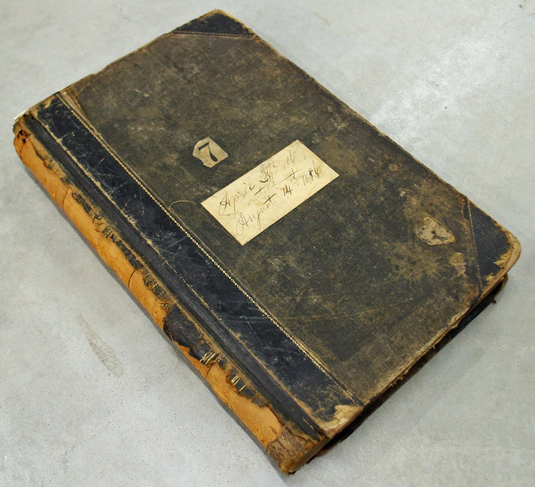 19TH CENTURY FIRE DEPARTMENT LOG BOOK