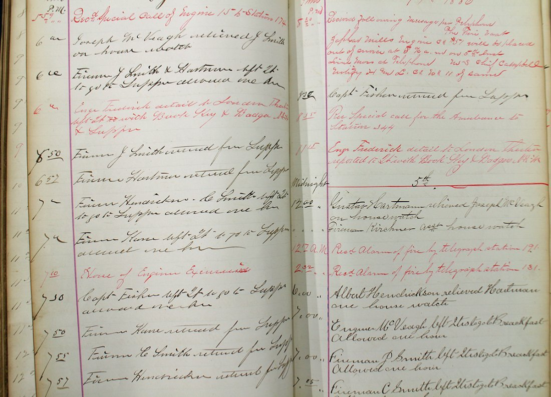 19TH CENTURY FIRE DEPARTMENT LOG BOOK - 5