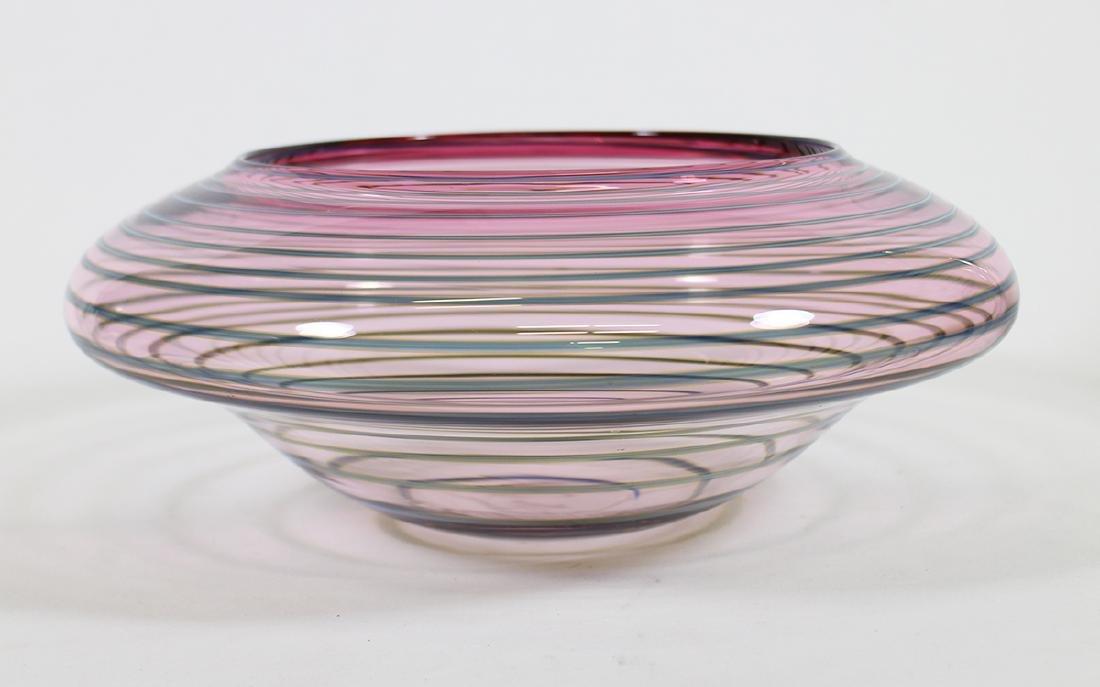 DICK HUSS ART GLASS BOWL