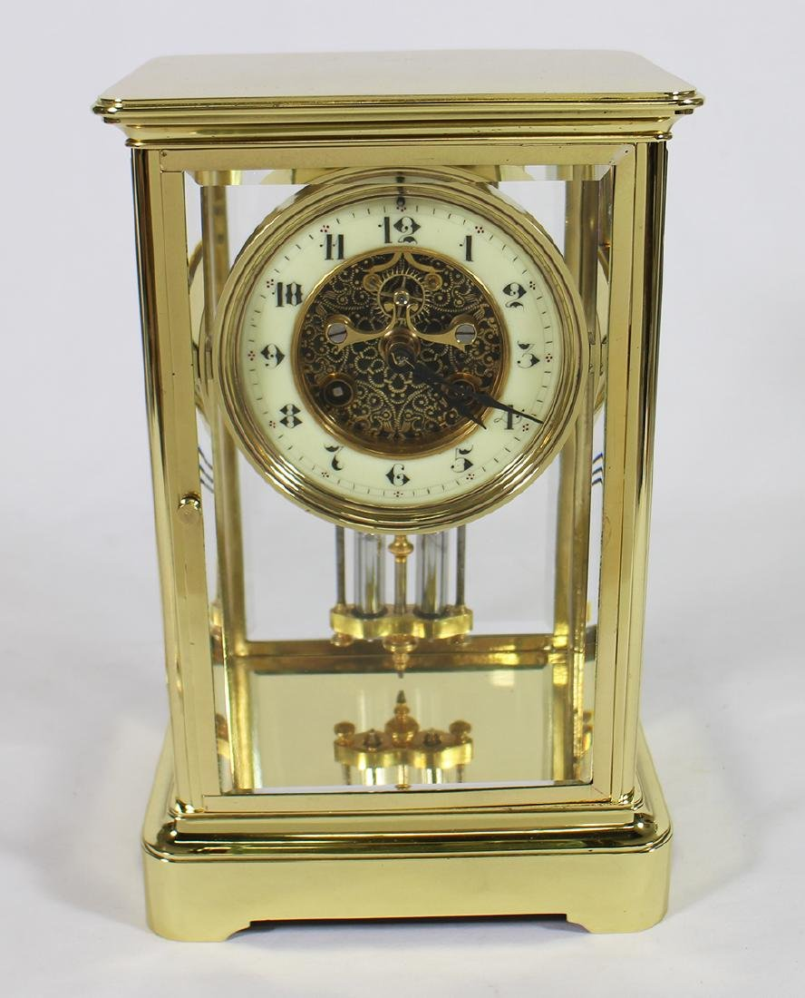 1870's FRENCH CRYSTAL AD MOUGIN REGULATOR CLOCK