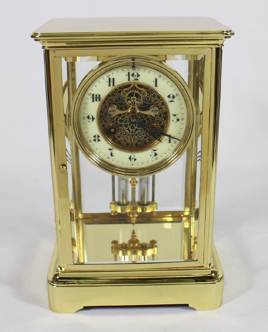 1870's FRENCH CRYSTAL AD MOUGIN REGULATOR CLOCK