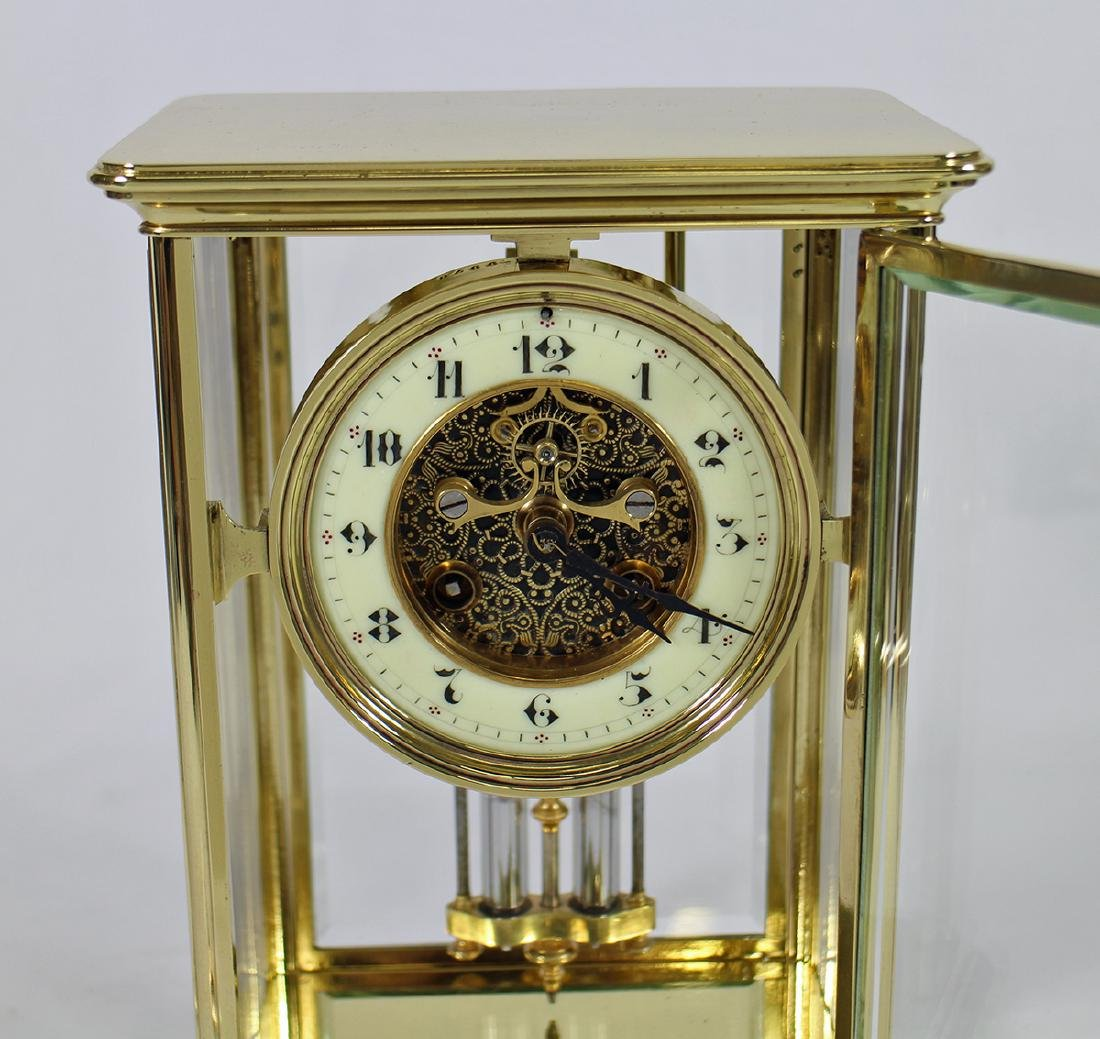 1870's FRENCH CRYSTAL AD MOUGIN REGULATOR CLOCK - 2