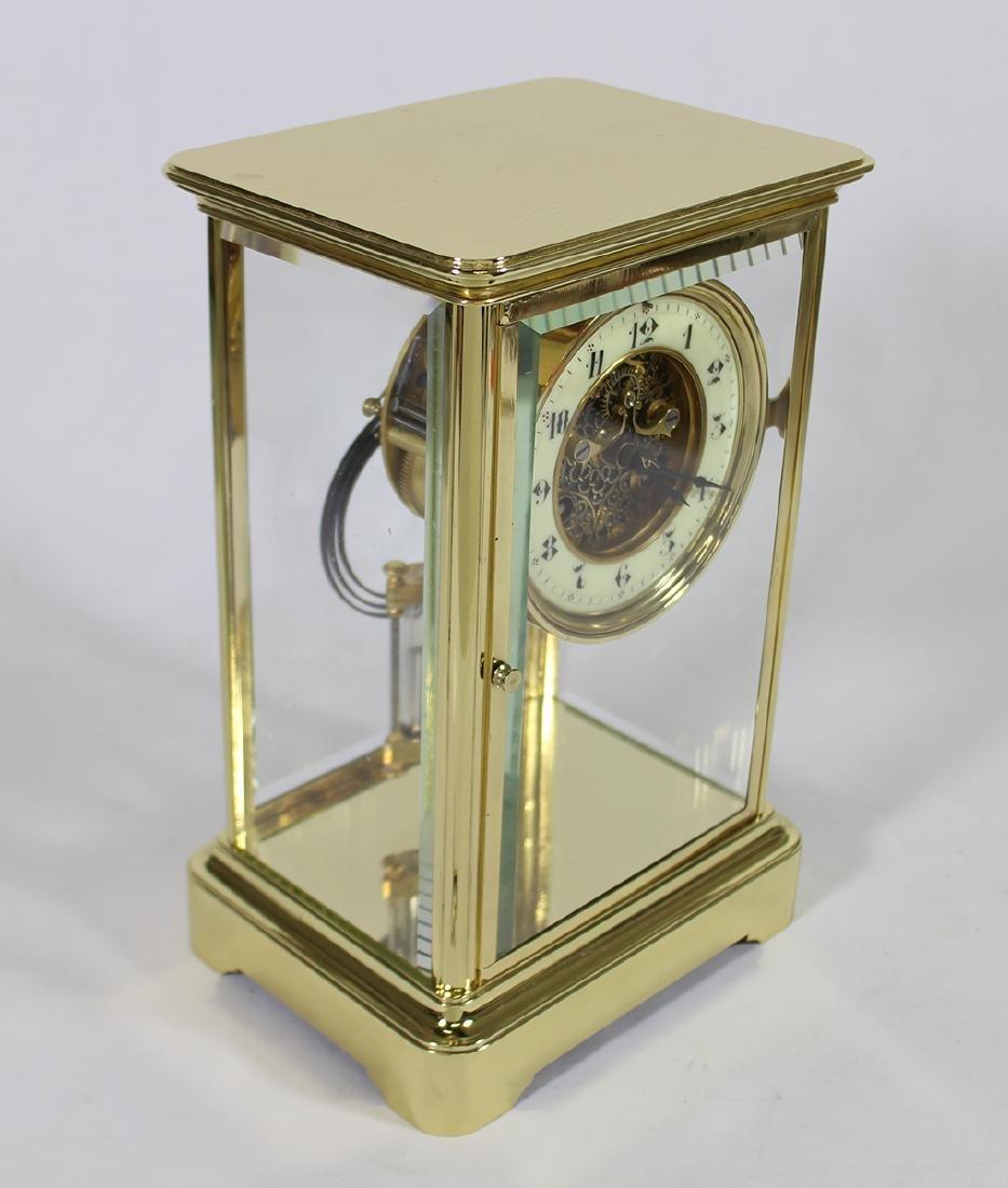 1870's FRENCH CRYSTAL AD MOUGIN REGULATOR CLOCK - 4