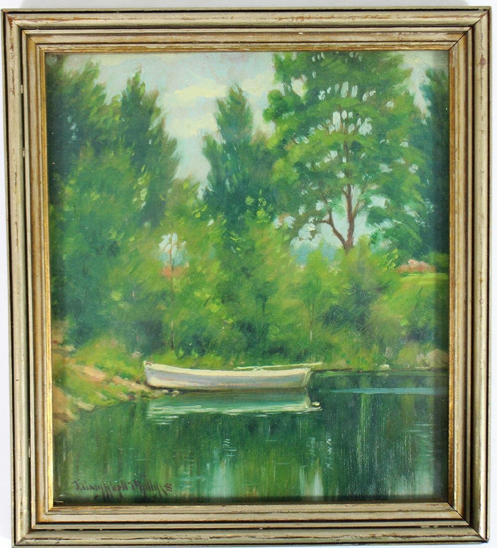 JOHN CAMPBELL PHILLIPS ROWBOAT PAINTING