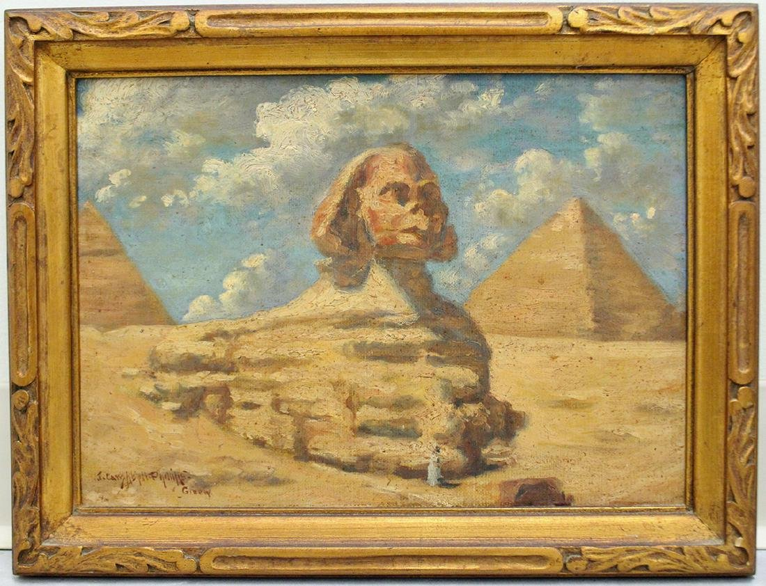 JOHN CAMPBELL PHILLIPS GREAT SPHINX PAINTING