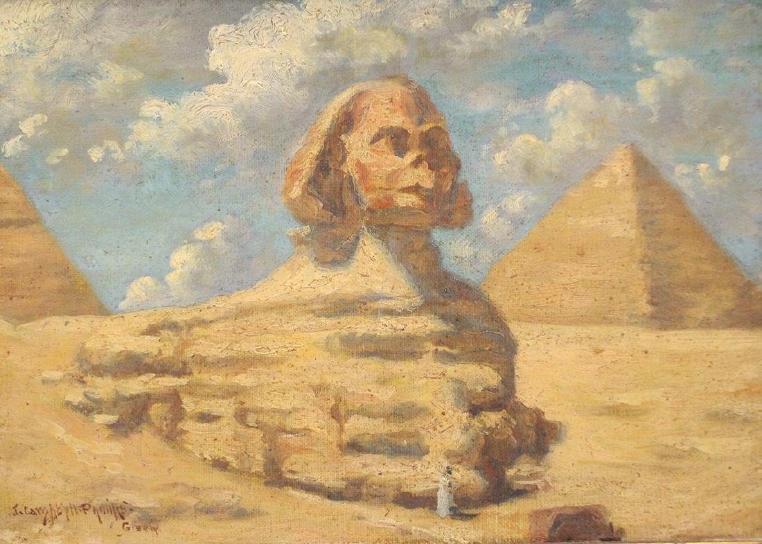 JOHN CAMPBELL PHILLIPS GREAT SPHINX PAINTING - 2