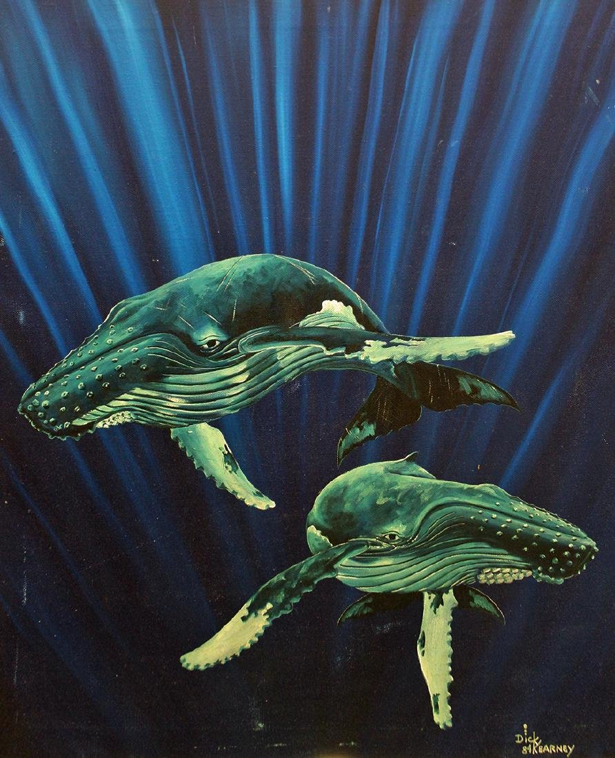 "DICK KEARNEY ""SONG OF THE WHALES"" PAINTING"
