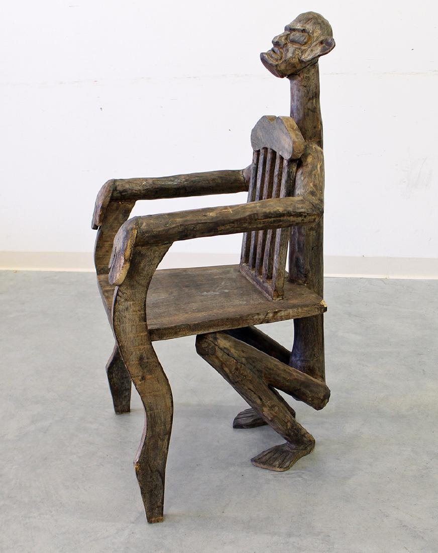 AFRICAN FIGURAL CHAIR - 2