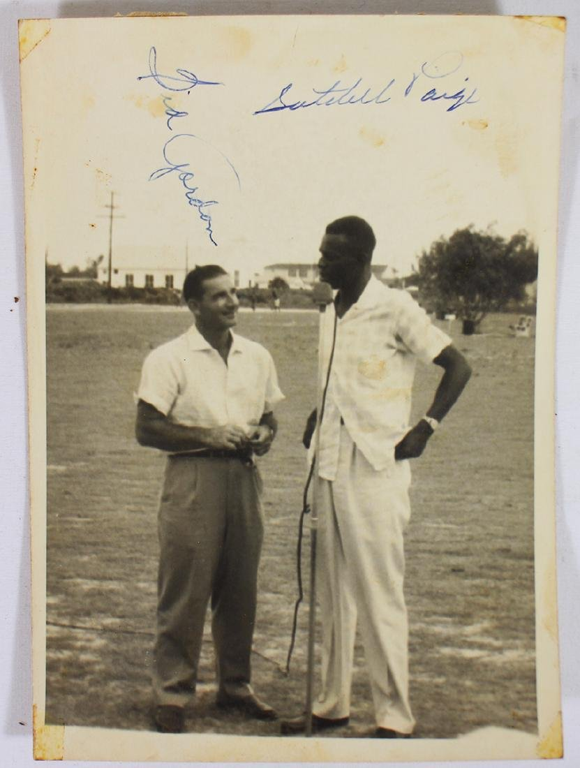 SATCHEL PAIGE & SID GORDON AUTOGRAPHED PHOTO