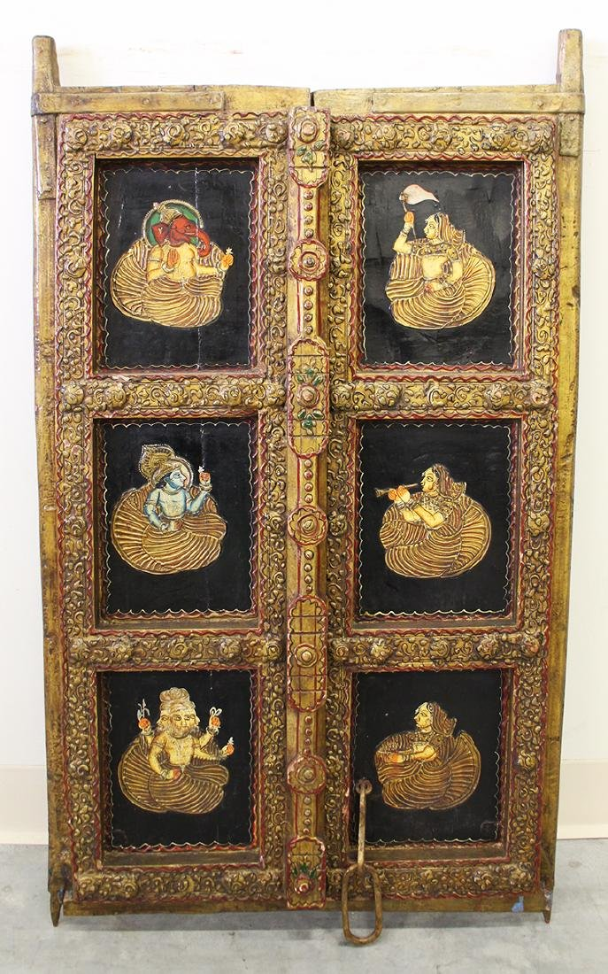 19TH CENTURY INDIAN DOOR PANEL