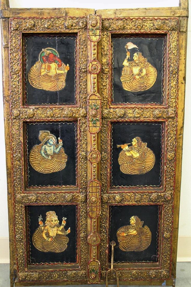 19TH CENTURY INDIAN DOOR PANEL - 2