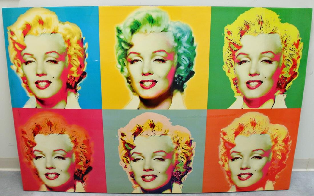 SIX MARILYN MONROE POP ART