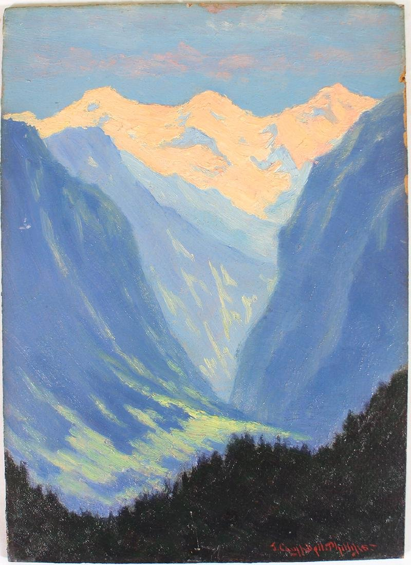 JOHN CAMPBELL PHILLIPS MOUNTAIN PAINTING