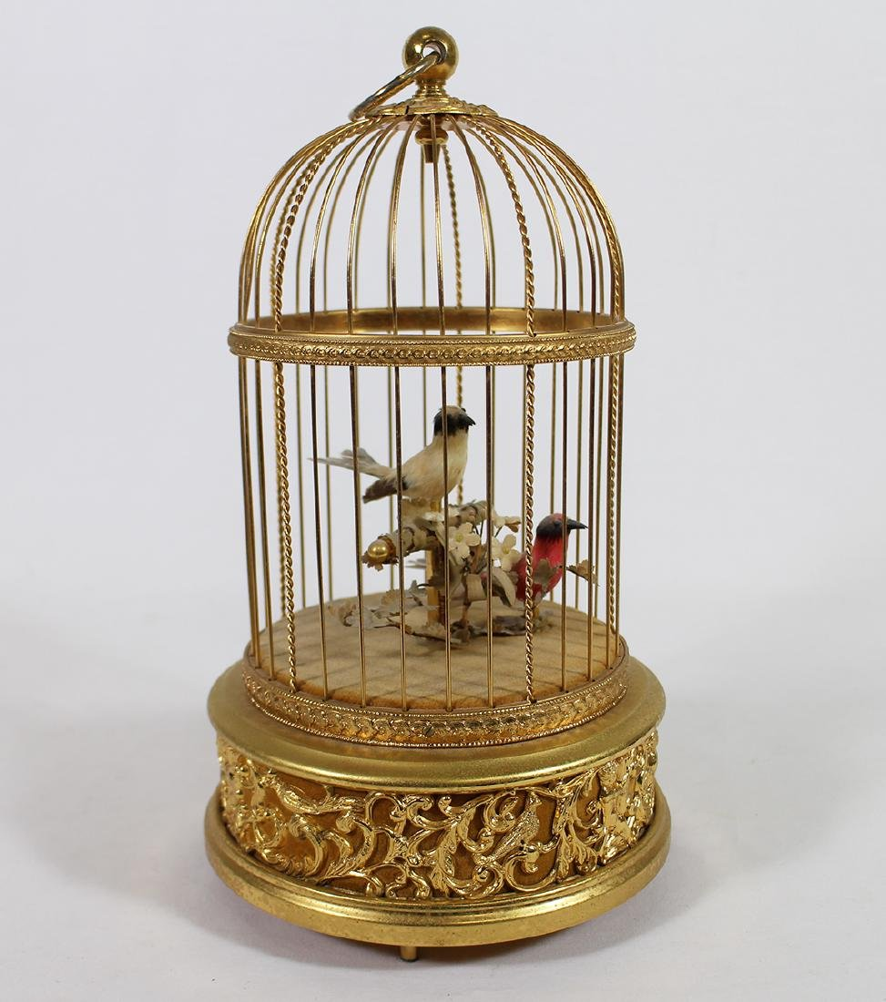 REUGE SWISS AUTOMATON MUSIC DOUBLE BIRD CAGE