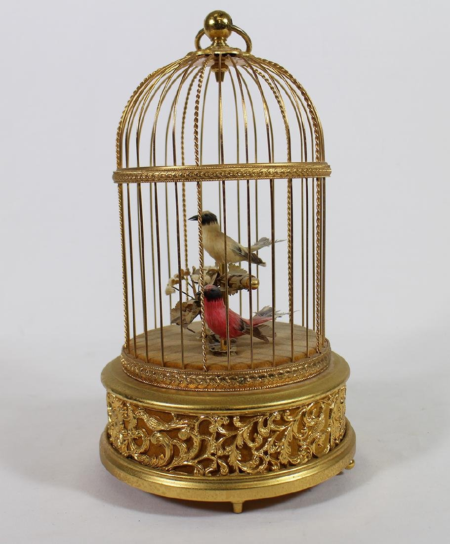 REUGE SWISS AUTOMATON MUSIC DOUBLE BIRD CAGE - 2