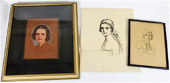 JOHN CAMPBELL PHILLIPS PORTRAIT  DRAWINGS