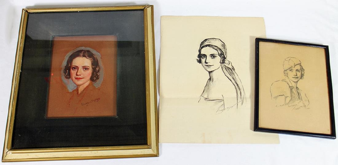 JOHN CAMPBELL PHILLIPS PORTRAIT & DRAWINGS