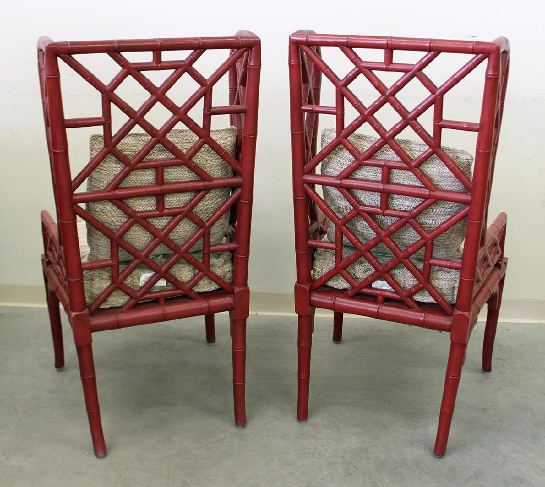 (2) GUILDMASTER BAMBOO WINGBACK CHAIRS - 3