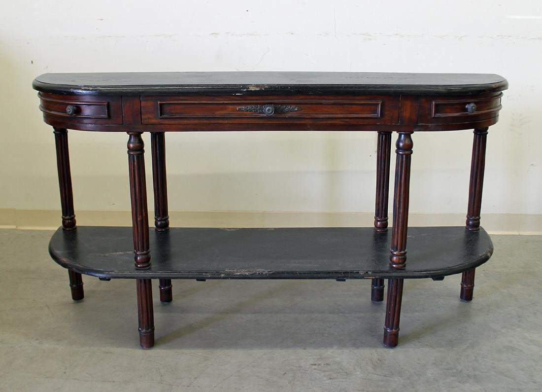 GUILDMASTER DEMILUNE CONSOLE TABLE