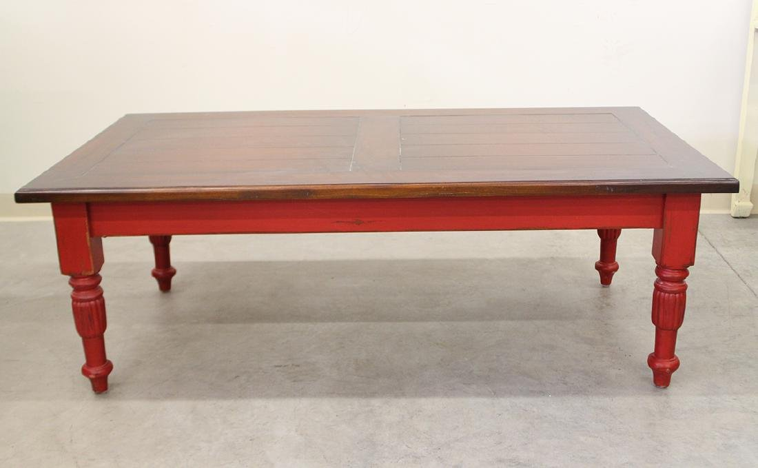 RED WOOD COFFEE TABLE