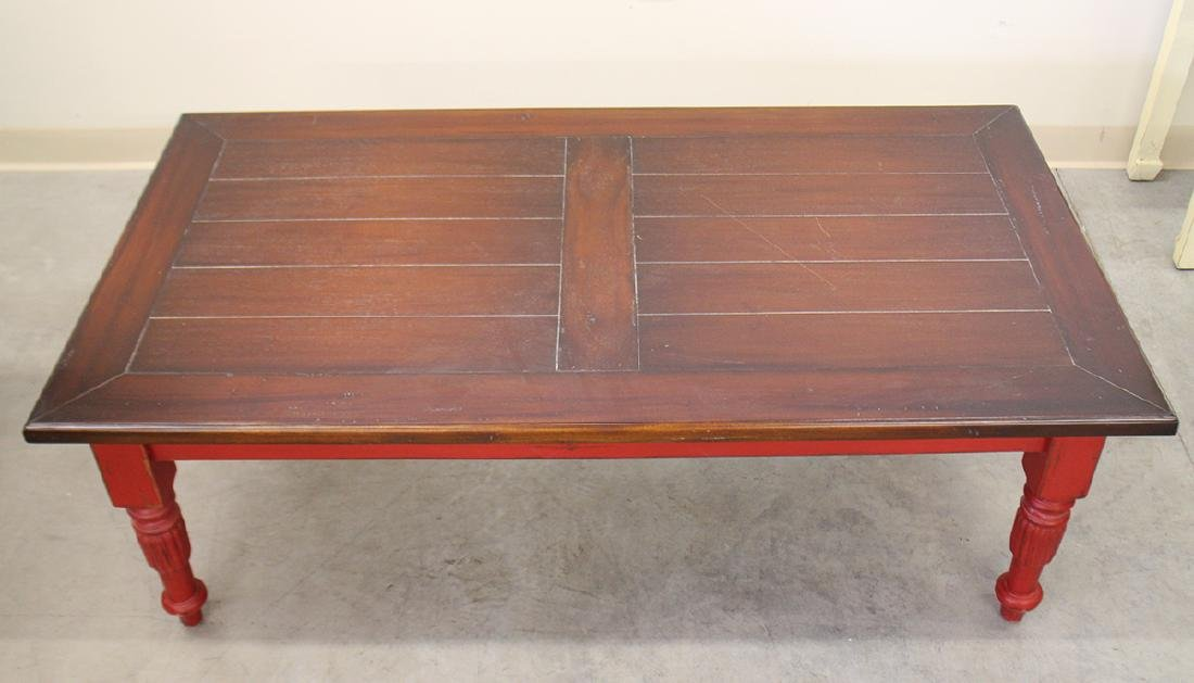 RED WOOD COFFEE TABLE - 2