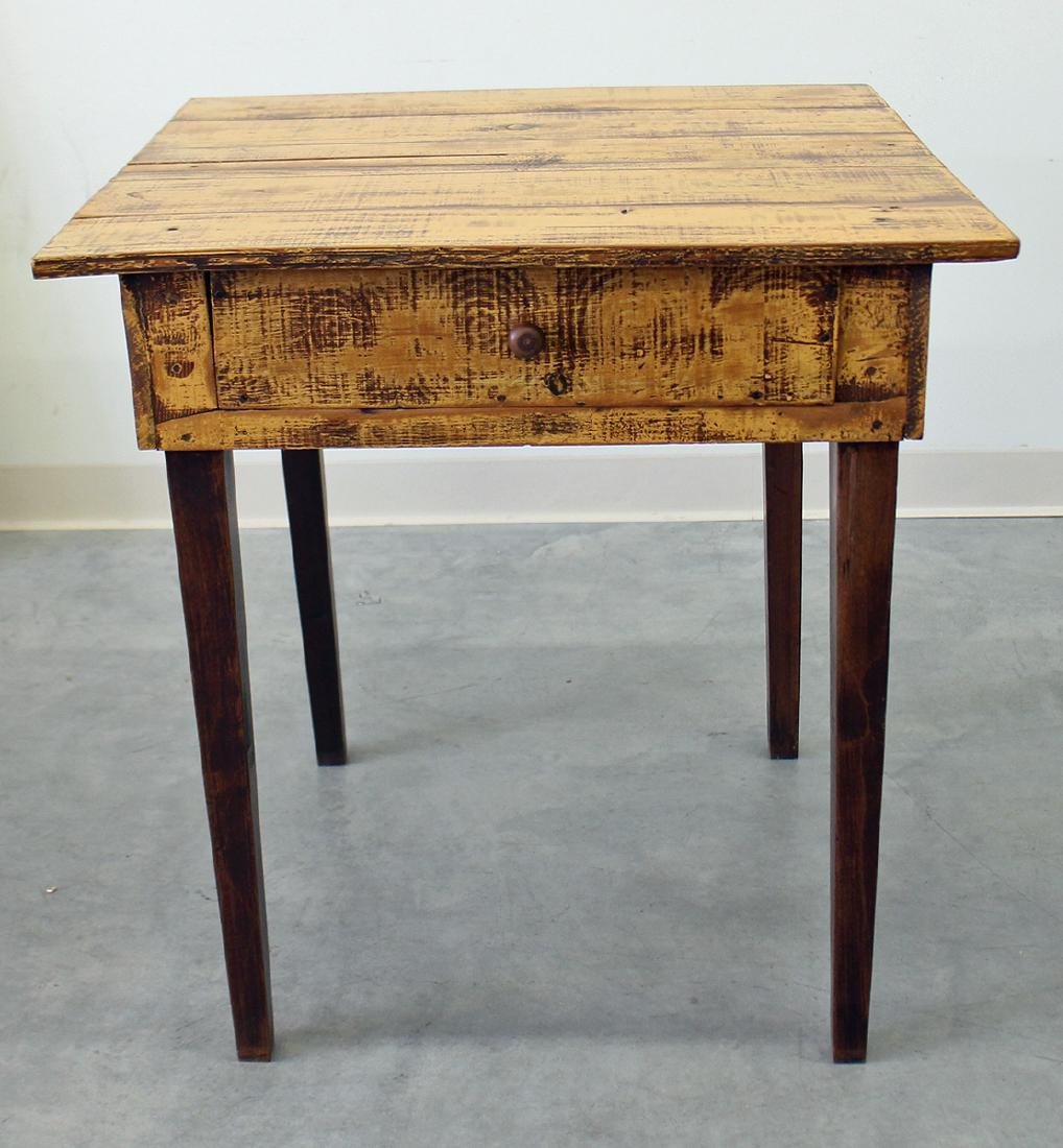 WOOD PLANK SIDE TABLE
