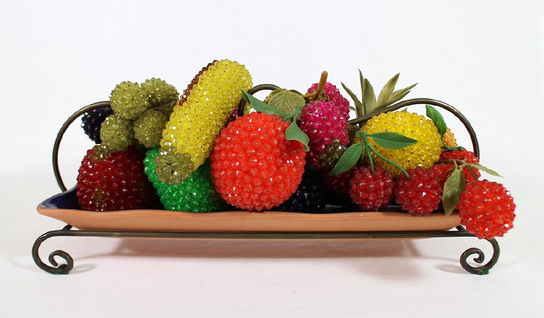 BEADED FRUIT CENTERPIECE