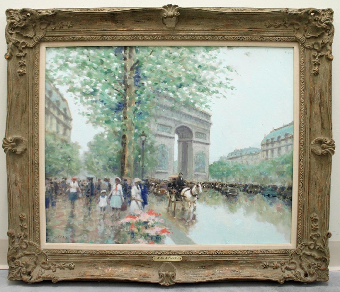 ANDRE GISSON L' ARC DE TRIOMPHE PAINTING